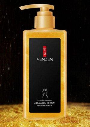 VENZEN / Питательный крем-гель для тела с частицами 24К-золота,ниацинамидом и аллантоином,омолаживающий,250мл