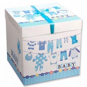 Коробка подарочная, средняя - Принт на рождение малыша