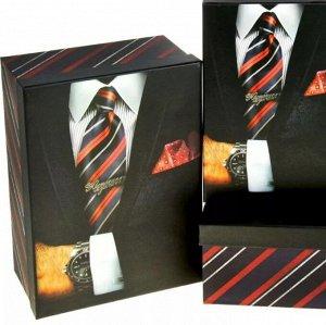 Коробка подарочная, малая - Принт для мужчин