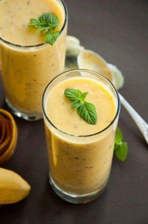 Рецепт 9 МАНГОВЫЙ  ЛАССИ  Ингредиенты: 📌мякоть манго 📌 йогурт без наполнителя больше 2,5% жирности - 250г. 📌 молоко 3,2% - 125г. 📌 мед - 1 ч. л. 📌 молотый кардамон ¼ ч.л  Возьмите для ласси манго и по