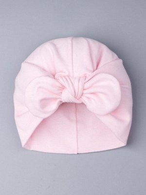Чалма для девочки с бантом, светло-розовый