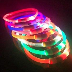 Ошейник LED c USB силикон 35 см