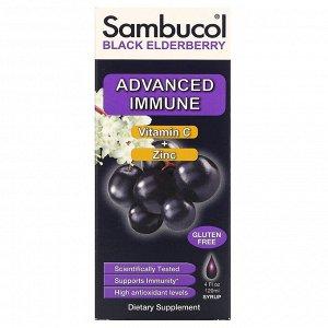 Sambucol, Сироп из черной бузины, усовершенствованная поддержка иммунитета, витамин C + цинк, натуральные ягоды, 120 мл (4 жидк. унции)