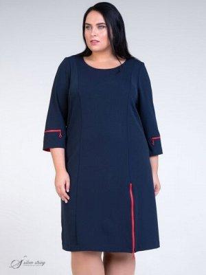 Платье Интересное демисезонное платье из эластичного материала. За счет ткани и посадки очень удобное и комфортное в эксплуатации. Горловина круглой формы, рукав втачной,длина 3/4. Элементами отделки