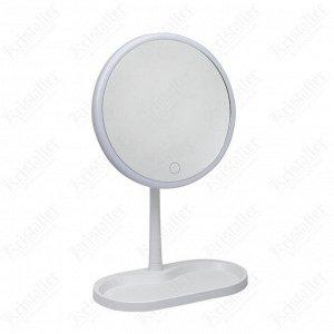 Зеркало косметическое с LED подстветкой (батарейки + USB)