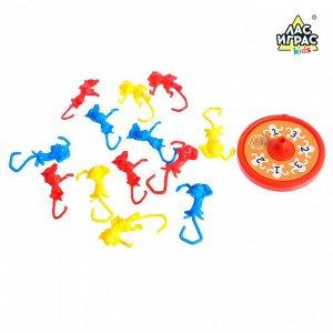 Настольная игра на ловкость «Мартышкин хвост»: рулетка, разноцветные мартышки