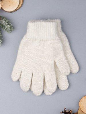Перчатки вязаные мужские, молочный