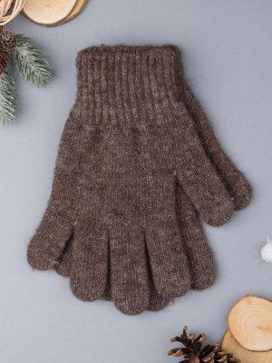 Перчатки вязаные мужские, коричневый