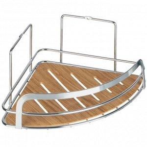"""FORA"" Полка для ванной, угловая ""Wood"" 20х20х10см FOR-WOD01-U"