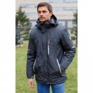 Мужская зимняя куртка 92519-4 темно-серая