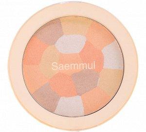 The Saem Saemmul Luminous Multi Highlighter 02. Gold Beige Минеральный хайлайтер мозаичный 8гр
