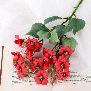 """Цветы искусственные """"Цветки льна"""" 4х45 см. красный"""
