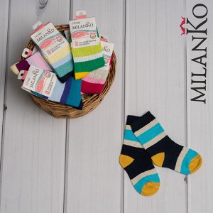 Детские демисезонные носки из ОТБОРНОГО хлопка MilanKo IN-084