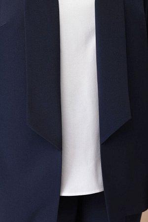 Костюм Костюм Linia-L А-1831 темно-синий/молочный  Состав: Костюм: ПЭ-96%; Спандекс-4%; Блуза: Вискоза-100%; Сезон: Осень-Зима Рост: 164  Текстильный женский трёх-предметный комплект, состоящий из жа