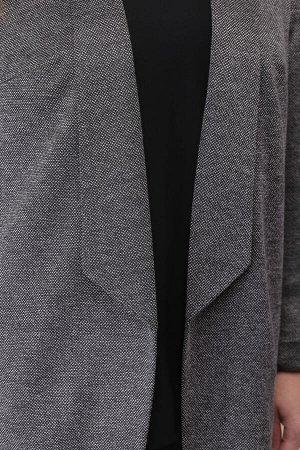 Костюм Костюм Linia-L А-1837 серый/черный  Состав: Блуза: ПЭ-100%; Жакет: Вискоза-26%; ПЭ-70%; Эластан-4%; Брюки: ПЭ-96%; Спандекс-4%; Сезон: Осень-Зима Рост: 164  Женский трёхпредметный комплект, со