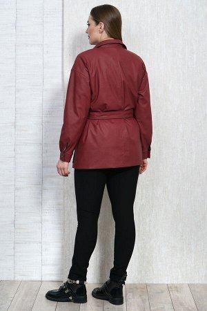 Рубашка Рубашка Белтрикотаж 4306 бордо  Состав: ПЭ-100%; Сезон: Осень-Зима  Жакет кожаный прямого силуэта, на подкладке. Рукав спущенный длинный на притачной манжете, которая застегивается на 1 кнопк