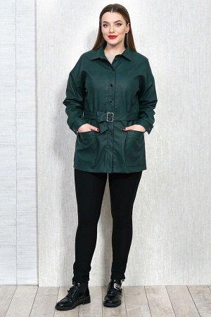 Рубашка Рубашка Белтрикотаж 4306 зеленый  Состав: ПЭ-100%; Сезон: Осень-Зима  Жакет кожаный прямого силуэта, на подкладке. Рукав спущенный длинный на притачной манжете, которая застегивается на 1 кно