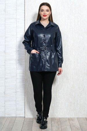 Рубашка Рубашка Белтрикотаж 4306 синий  Состав: ПЭ-100%; Сезон: Осень-Зима  Жакет кожаный прямого силуэта, на подкладке. Рукав спущенный длинный на притачной манжете, которая застегивается на 1 кнопк