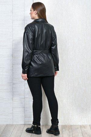 Рубашка Рубашка Белтрикотаж 4306 черный  Состав: ПЭ-100%; Сезон: Осень-Зима  Жакет кожаный прямого силуэта, на подкладке. Рукав спущенный длинный на притачной манжете, которая застегивается на 1 кноп