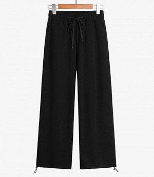 Хлопковые женские брюки, цвет чёрный