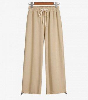 Хлопковые женские брюки, цвет беж