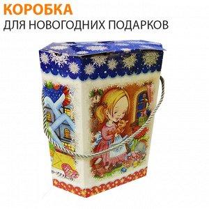 Коробка для новогодних подарков / 20 x 21 x 10 см