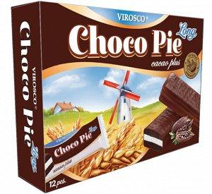 Печенье Chocolate Pie LONG Cacao Plus 18гр* 12шт.  1/12, шт