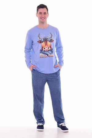 Пижама мужская 9-153а (индиго-светлый)
