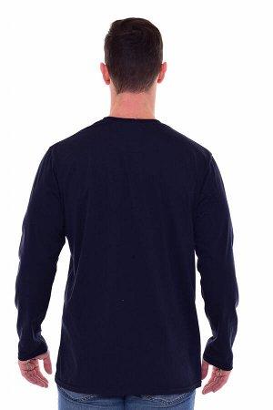 Футболка мужская 9-149е (темно-синий)
