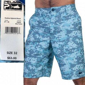 Мужские фирменные шорты Evolve 4 – пиксельный принт, врезные карманы №353