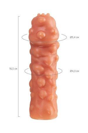 Cтимулирующая насадка на пенис с мега пупырышками KOKOS L