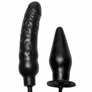 Набор для двойной стимуляции с возможностью расширения DEUCE Dual Inflatable Dildo and Anal Plug