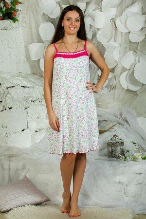 Сорочка ночная женская,мод. 432, трикотаж (Розовый цвет)