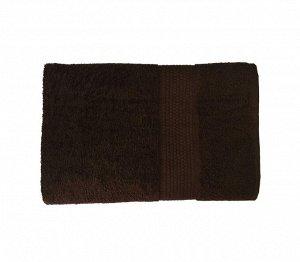 Махровое гладкокрашенное полотенце 100*150 см 400 г/м2 (Горький шоколад)