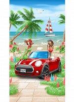 Полотенце вафельное пляжное 80*150 см (Сочи)