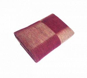 Одеяло п/ш 100*140см. Плотность 400 г/м2 (Крупная клетка, бордовый)