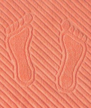 Коврик для ног, махровая ткань, хлопок 100 % (Абрикосовый)