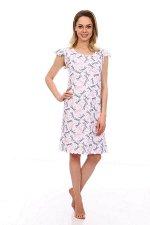 Сорочка ночная женская,мод. 426,трикотаж (Стрекозы, белый)