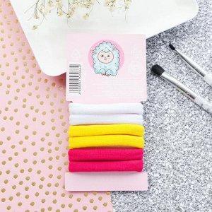 Набор текстильных резинок «8 марта!», 6 шт., 5,8 х 11,4 см