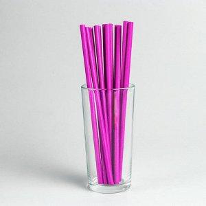 Трубочки для коктейля, набор 12 шт., цвет фиолетовый