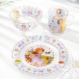 Набор посуды детский Priority «София», 3 предмета