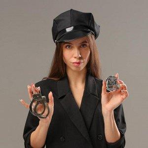 Карнавальный набор «Секс-полиция», шапка, наручники, брошь