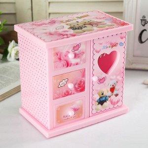 """Шкатулка музыкальная """"Розовый шкафчик с сюрпризами"""""""