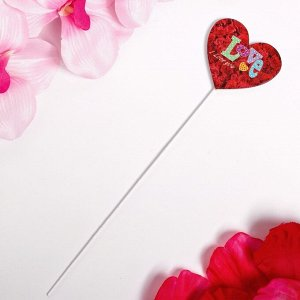 Декор на палочке «Сердечко» 0.4?6?25 см