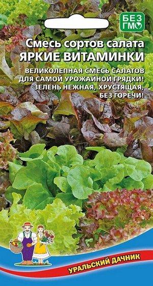 Смесь сортов салата Яркие витаминки (УД) (смесь сортов для самой урожайной грядки)