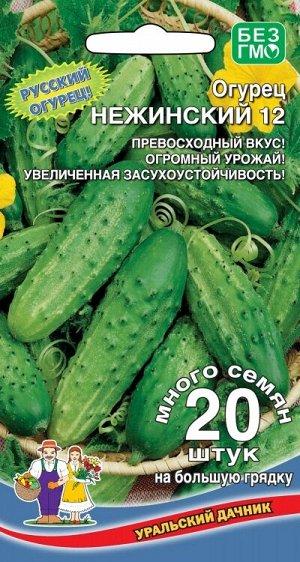 Огурец Нежинский 12 (УД) (непревзойденный вкус свежих и соленых огурчиков)