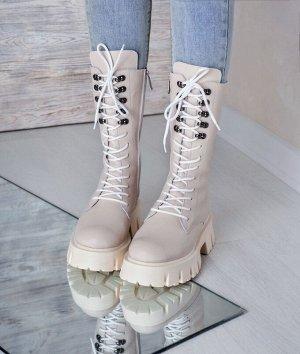 Бежевые кожаные ботинки МИЛИ24