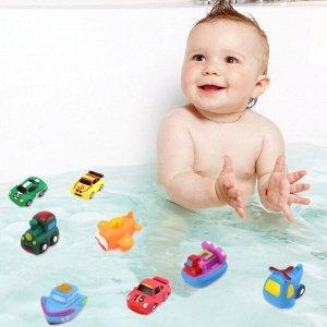 Набор резиновых игрушек для ванны (4 предмета в сумочке)