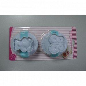 """Набор плунжеров 3D кондитерских для мастики и теста """"Мишка, бабочка"""""""