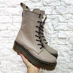 Бежевые кожаные ботинки Woodstock